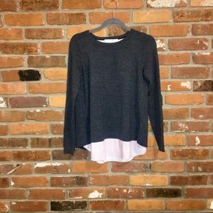 Boden Merino Wool Sweater With Spit Back/Small